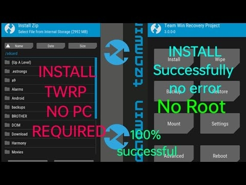 How to install TWRP successfully Without any error no pc no root. 💯% successfully.