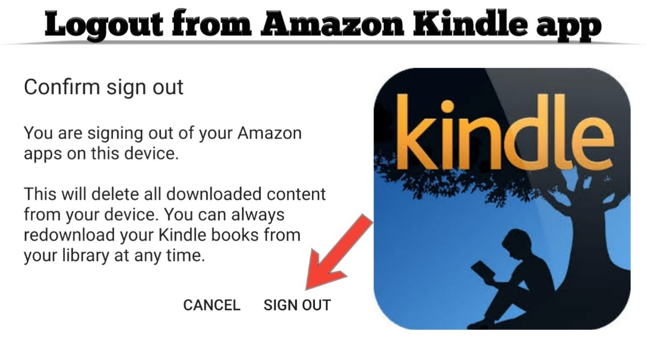 How to Logout from Amazon Kindle app | Sign out from your Amazon Kindle app | Techno Logic | 2021