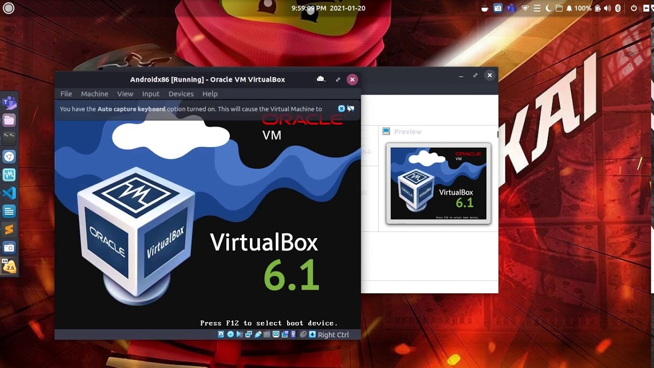 Install android x86 on virtualbox