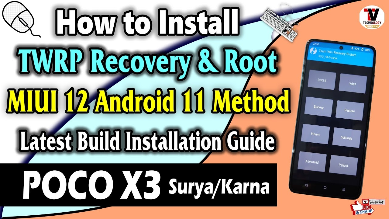 Install TWRP Recovery & Root On POCO X3 (Surya/Karna) MIUI 12 Android 11 Method | No Data Wipe |