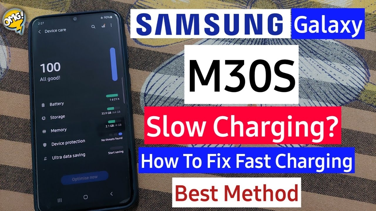 Samsung Galaxy M30S Slow Charging Issue Fix   Samsung Galaxy M30s Fast Charging Fix   Battery Drain