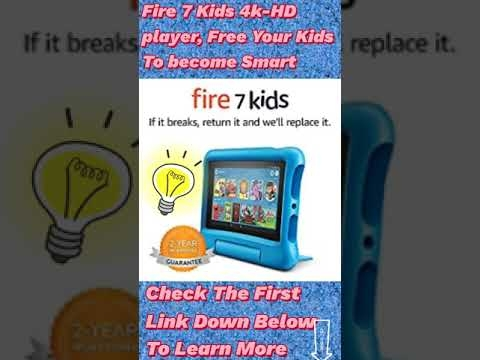 #Shorts ● Fire 7 kids Tablet, Amazon Fire 7 Kids Edition, Best Learning Tablet For Kids