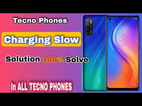 Tecno Phones Me Slow Charging Problem ||slow charge problem ka solution in all tecno phones
